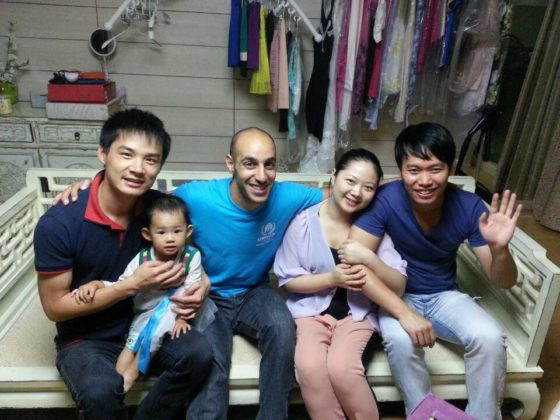 Mohamed und seine Gastfamilie in Peking